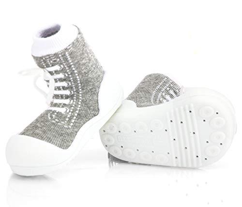 Attipas - ergonomische Lauflernschuhe Baumwolle Sneakers (22.5, Grau)
