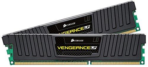 Corsair CML16GX3M2A1600C10 Vengeance Low Profile 16GB (2x8GB) DDR3 1600 Mhz CL10 XMP Performance Desktop Memory Schwarz