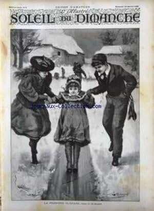 SOLEIL DU DIMANCHE [No 2] du 13/01/1895 - LA PREMIERE GLISSADE - TABLEAU DE LEO MALENPRE.