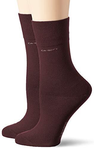 Camano Damen 3642 Socken, Rot (Bordo Melange 0060), 35/38 (2er Pack)