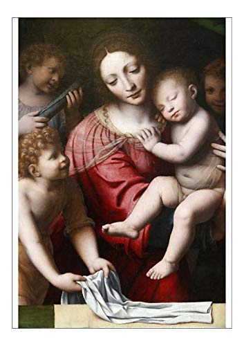 A1 Poster of The Sleep of The Child Jesus presumed to be Painted by Bernardino Luini in (19951407)