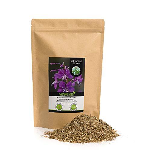 Epilobe, Té de hierbas de sauce con flores pequeñas (250g), cortado, suavemente secado, 100% puro y natural para la preparación de té