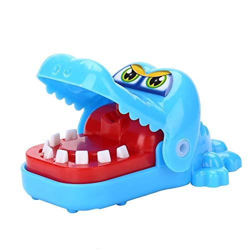 Fdit - Giocattolo a forma di coccodrillo, per dentista, giocattolo da dito, carino, gioco di società (blu)