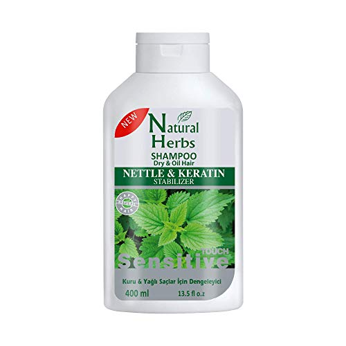 Seed Natural Herbs Brennnessel & Keratin Shampoo 400 ml- Ideal für trockene & fettige Haare- Haarwachstum Shampoo - Anti Haarausfall Shampoo - Brennessel Shampoo mit Keratin Haarkur Pflege