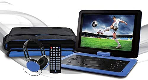 Ematic 14 1 Portable DVD Player with Matching Headphones and Carrying Bag EPD142bu product image