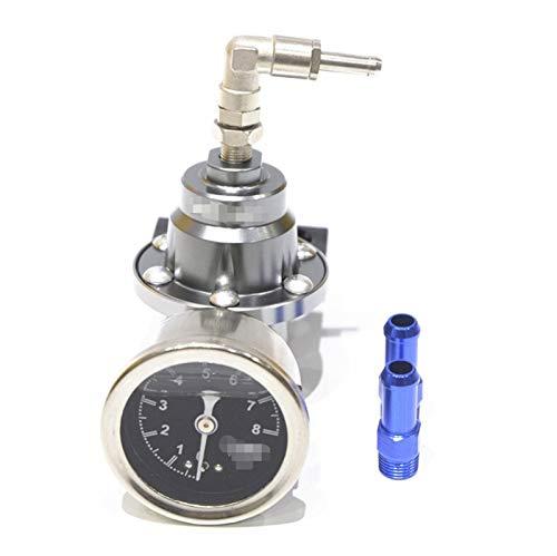 ZYTANG 6 regulador de presión de Combustible de Aluminio Ajustable de Color con Kit de Calibre Negro Titanio Rojo Oro Plata Azul (Color : Purple)