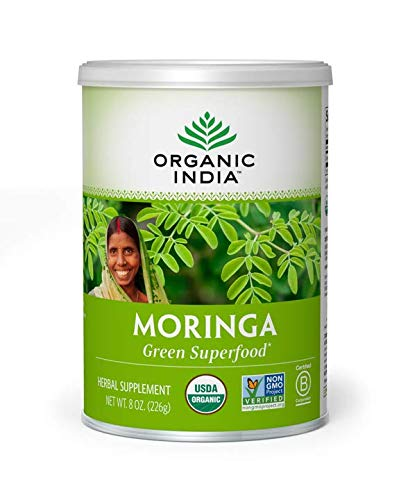 ORGANIC INDIA Moringa Supplement Powder, 8 Oz