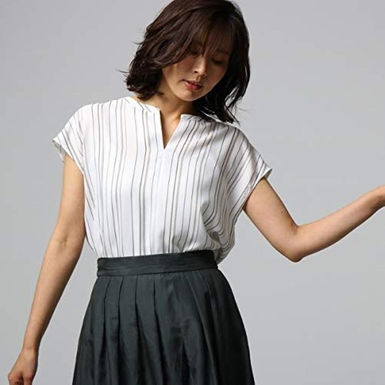 アンタイトル(UNTITLED) 【洗える】ランダムストライプシャツ