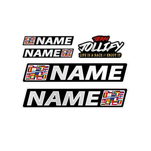 JOllify WUNSCHNAME Aufkleber - Fahrername Sticker Set 30cm - Name als Wunschtext