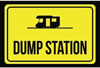 Aluminum Metal Dump Station Print Black Yellow Poster Notice Outdoor Business Sign
