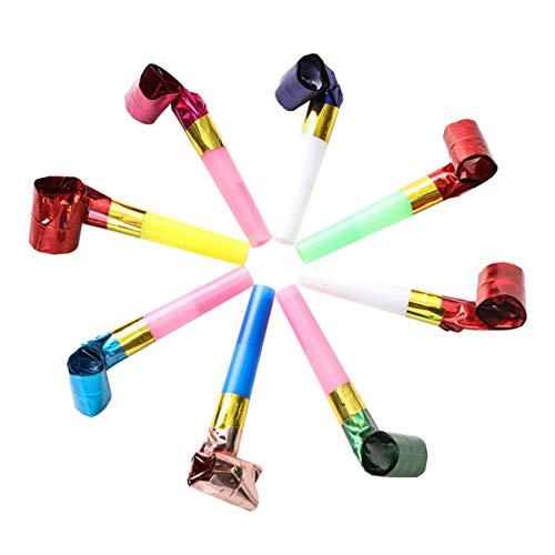 Party Blowers Whistles Juguetes para niños Cumpleaños Navidad Halloween Partys Noisemakers, Colorido 100 piezas