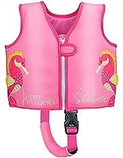 Wenlia 子供の救命胴衣シュノーケリングベスト強い浮力安全シーホースベスト水泳水泳アミューズメント