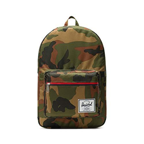 Herschel Pop Quiz Backpack, Woodland Camo/Multi Zip, Classic 22L