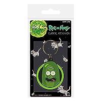 Cartoon Network Morty-Pickle Rick - Llavero de goma, multicolor, 4,5 x 6 cm