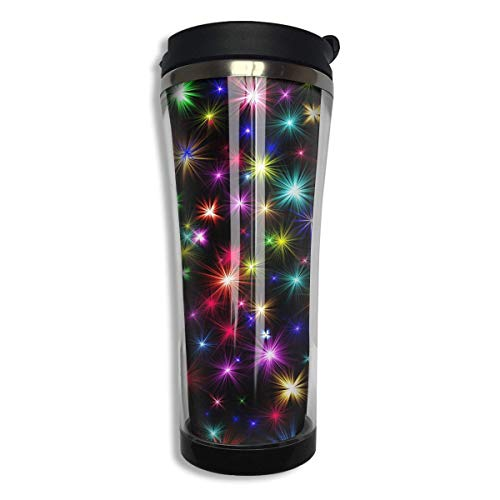Taza de acero inoxidable brillante colorida Vaso frío caliente Sello de silicona Taza de viaje hermética al vacío Botella de bebida sel
