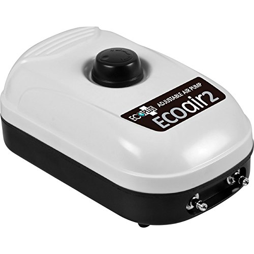 Sunlight Supply Eco Air 2 Adjustable Air Pump — 2 Outlets, 126 GPH, 3 Watts