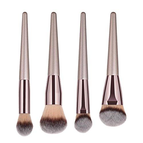 perfeclan La Base De Maquillage Professionnelle De Brosses De Maquillage De Kabuki Maquillent Des Outils De Brosse - 4pcs