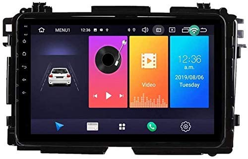 LYHY Android 9.0 Car Stereo Radio 1Din Sat Nav Compatible with Honda Vezel HR-V HRV 2014-2017 GPS Navigation 9'' Touch Screen Multimedia Player Video Receiver with 4G DSP Carplay,8core 4g 2+32