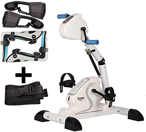 MFLASMF Bicicleta estática reclinada con Resistencia Ajustable, máquina de rehabilitación eléctrica, ejercitador de Pedal para Brazos y piernas con Pantalla LCD