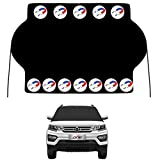 Kribin Magnetic Windshield Sunshade with 12 PCS Powerful Magnets - Upgraded Car Windshield Cover for Ice and Snow - Extra Large for Most Car SUV Truck