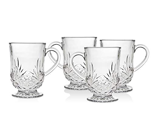 Hot Beverage Glass Cups - Dublin Collection, Set of 4