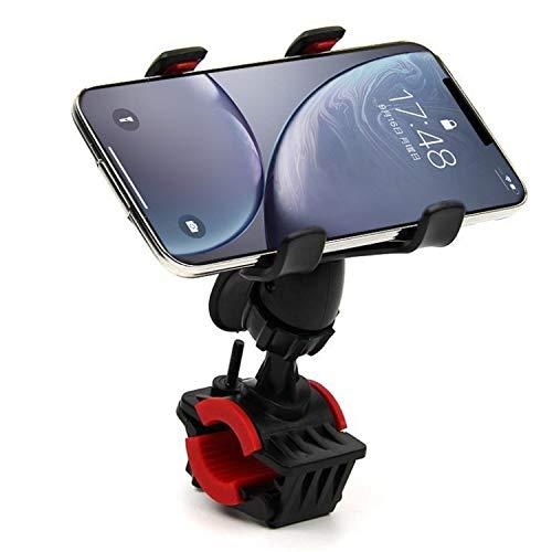 自転車 スマホ ホルダー バイク スマホホルダー オートバイ GPSナビ 脱落防止 角度調整 360度回転 脱着簡単 幅90~100mmまで開け可能 多機種対応