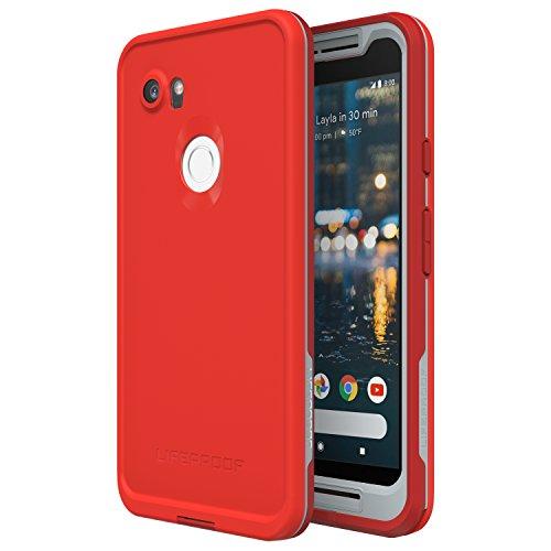 Lifeproof FRĒ Series Waterproof Case for Google Pixel 2 XL - Retail Packaging - FIRE Run (Cherry Tomato/Sleet/Molten Lava)