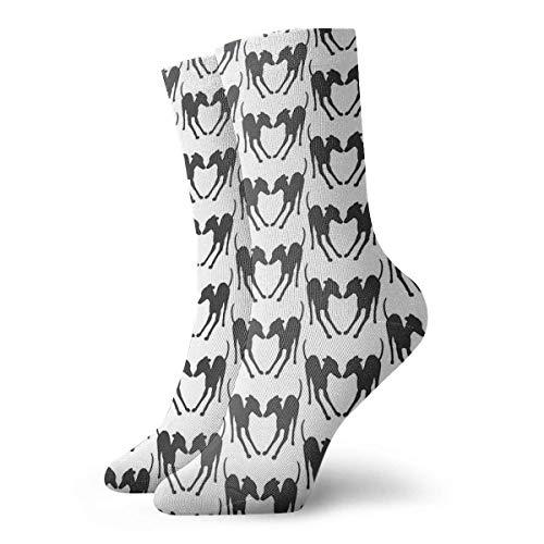 VJSDIUD Calcetines de silueta de juego de galgos italianos de Anna Angel, calcetines cortos deportivos clásicos de ocio, 30 cm / 11,8 pulgadas, adecuados para hombres y mujeres