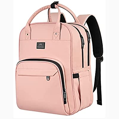 Nursing School Backpack, Waterproof College Book Bag for Women with Removable Organizer, 15.6 Inch Travel Lapatop Backpacks Medical Clinical Doctor Nurse Work Daypack for Girls, Gifts for Her, Pink from