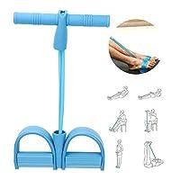 フィットネス二本鎖ロープヨガ抵抗ベルト、弾性フォームハンドルペダルエクササイズ、トレーニング用ブルーフィットネスデバイスヨガヨガ機器(Pull rope)
