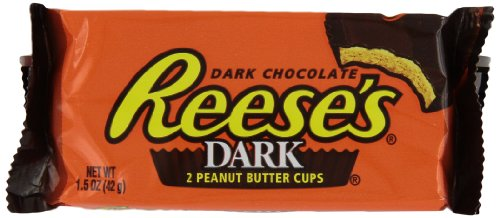 REESE#039S Peanut Butter Cups Dark Chocolate Candy 15 Ounce Pack of 24