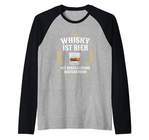 Lustiges Whisky ist Bier Whiskey Alkohol Schnaps Geschenk Raglan