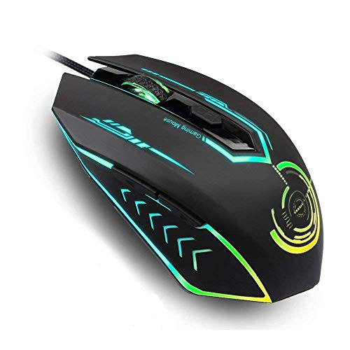 Wired Gaming Mouse, Gaming Mouse Up to 4800 DPI, Programmable, Changing Color,