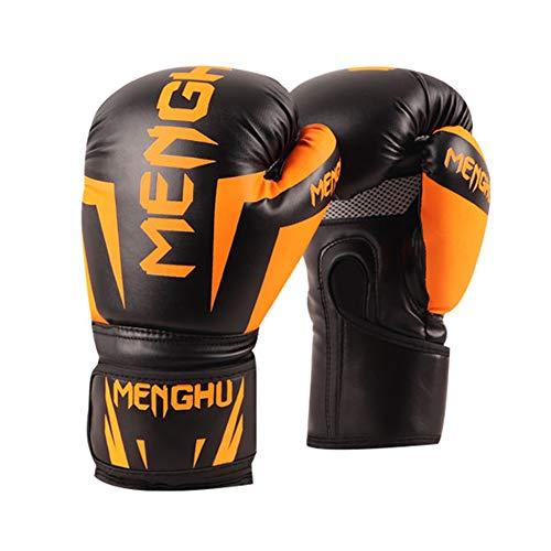 Boxing Gloves for Men Women PU Leather Heavy Bag Gloves for Punching Bag Kickboxing Muay Thai MMA,Orange