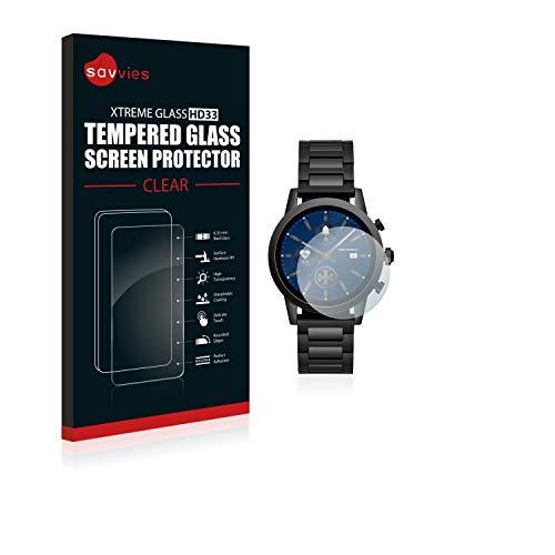 savvies Cristal Templado Compatible con Emporio Armani Connected ART5011 (3 Unidades) Protector Pantalla Vidrio Proteccion 9H Pelicula Anti-Huellas