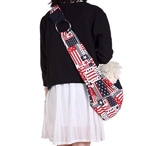 Yiwa schoudertas, eenvoudig, bedrukt, draagbaar, voor buiten reizen, voor honden en katten, huisdieren