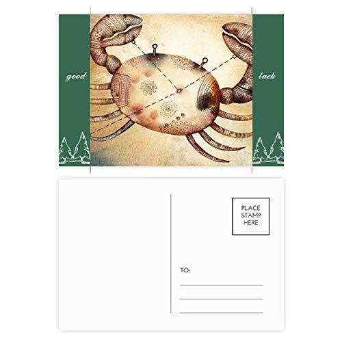 Juni Juli Kanker sterrenbeeld Zodiac Good Luck Postkaart Set Kaart Mailing Zijkant 20 stks