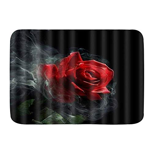 Fußmatten, The Withering Rose White Smoke, Küchenboden Badteppichmatte Absorbent Indoor Badezimmer Dekor Fußmatte rutschfest