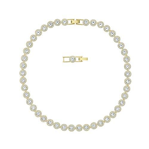 Swarovski Angelic Halskette, Weiß, Vergoldet