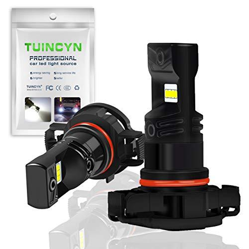 TUINCYN - Feu de brouillard LED PSX24 pour voitures - Puces CSP, 1600 lm, 6500 °K, blanc froid, 80 W, feux de jour