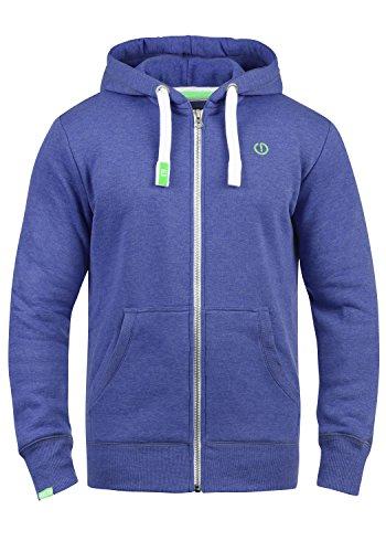 !Solid BennZip Herren Sweatjacke Kapuzenjacke Hoodie mit Kapuze und Reißverschluss, Größe:L, Farbe:Ampa Blue Melange (1705M)