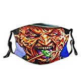 SINOVAL Face Cover A Nightmare Elm Street Fre-ddy Krue-ger Figure Balaclava Unisex Reusable Windproof Anti-Dust Mouth Bandanas Outdoor Camping Motorcycle Running Neck Gaiter with 2 Filters
