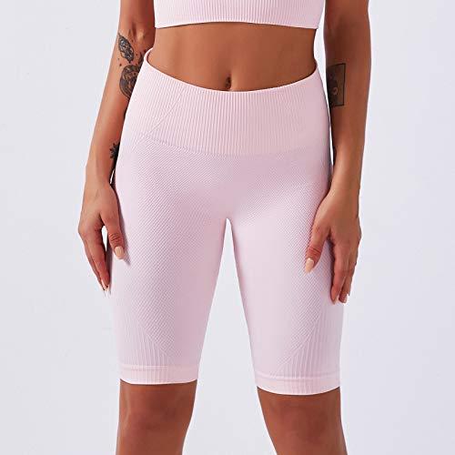 AOZLOVEC Pantalones de mujer Pantalones de yoga sin costuras Cintura alta Ropa de yoga de secado rápido Medias de fitness Yoga Running Athletic Gym M PK