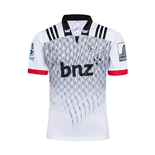 Canterbury Crusaders, Maillot De Rugby, Édition Extérieur, Nouveau Tissé Brodé, Swag Sportswear (Blanc, M)