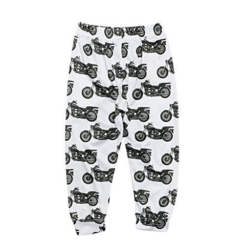 Dog Print Matching Family Holiday Pajama Pants, Christmas Elastic Waist Matching Family Pants for Christmas Pjs Party(Baby-White, 80)