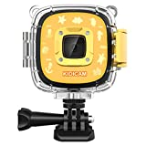 Dragon Touch Kidicam 2.0 Kids Action Camera, Waterproof Digital Camera for Boys Girls 1080P Sports Camera Camcorder with 16GB Memory Card (Yellow)