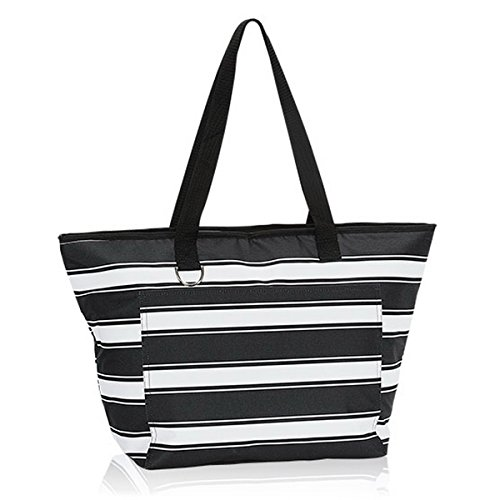 Thirty One Tote-Ally Thermal in Ribbon Stripe - No Monogram - 8257
