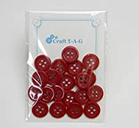 エコ リサイクル カラフルボタン 15mm 20個パック (やまぶき)