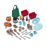 Step2 Great Gourmet Spielküche | Spielzeugküche für Kinder mit 36 teiligem Zubehör Set inkl. u.a. Geschirr & Töpfe | Kinderküche aus Kunststoff / Plastik