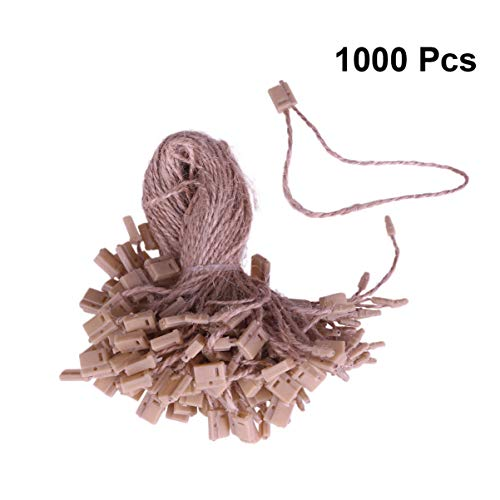 Healifty 1000 stücke fallumbau string nylonschnur snap lock pin schleifenverschluss haken krawatten für shop restaurant hause (allgemeine stil)